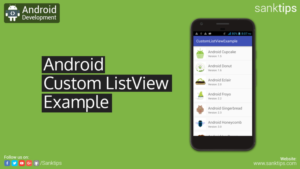 Android Custom ListView with Image and Text Example - Sanktips