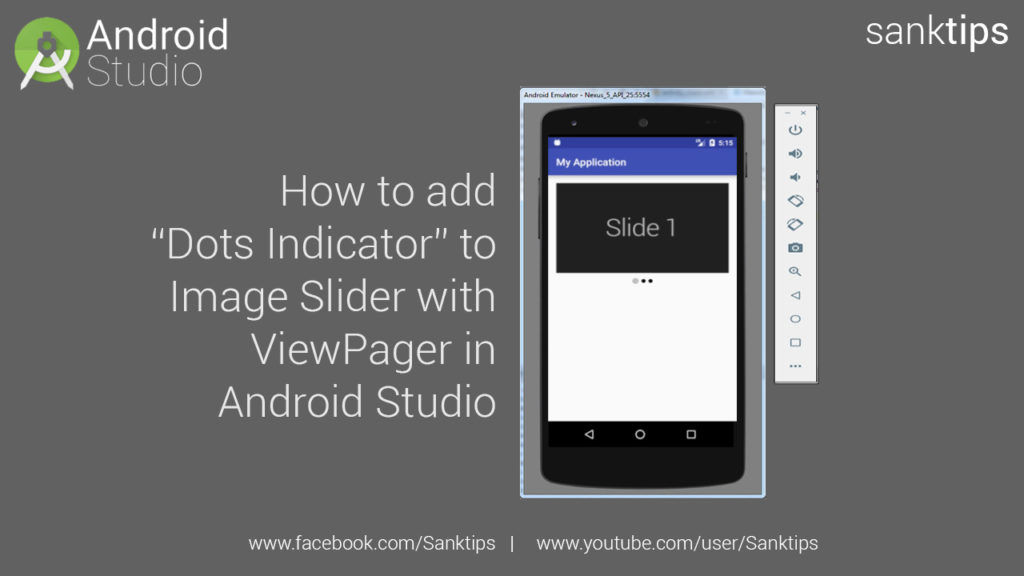 How to add Dots Indicator to Image Slider with ViewPager in