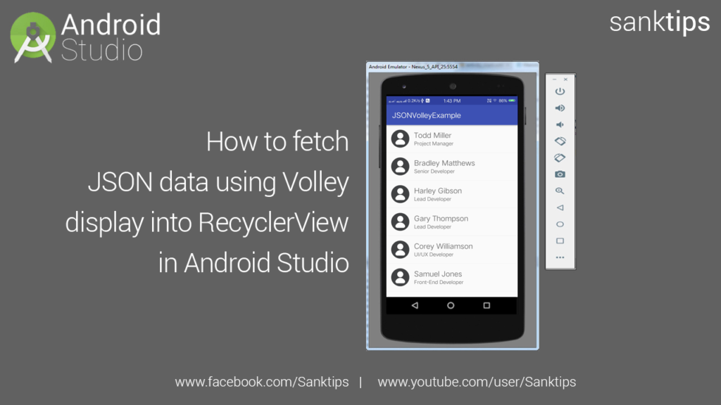 How to fetch JSON data using Volley and display it to RecyclerView